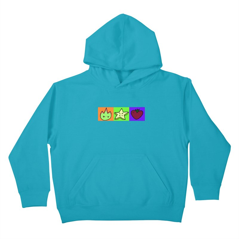 Individual Froot Logos Full Color Kids Pullover Hoody by Strange Froots Merch