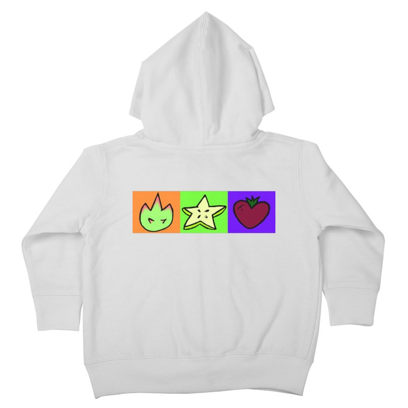 Individual Froot Logos Full Color Kids Toddler Zip-Up Hoody by Strange Froots Merch