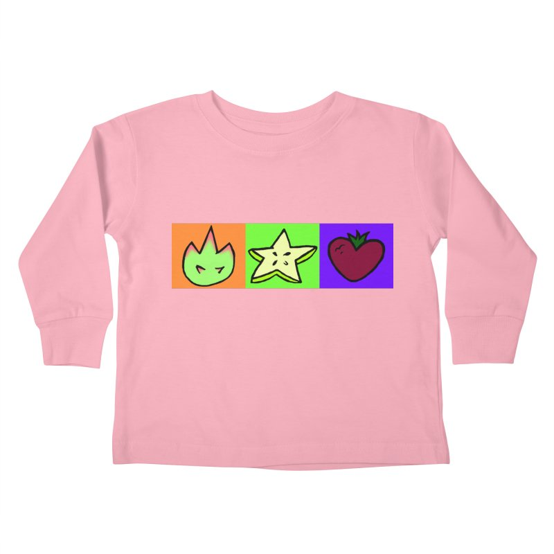 Individual Froot Logos Full Color Kids Toddler Longsleeve T-Shirt by Strange Froots Merch