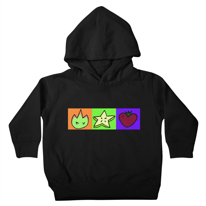 Individual Froot Logos Full Color Kids Toddler Pullover Hoody by Strange Froots Merch