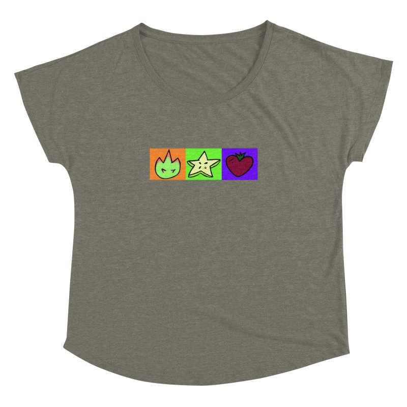 Individual Froot Logos Full Color Women's Dolman Scoop Neck by Strange Froots Merch
