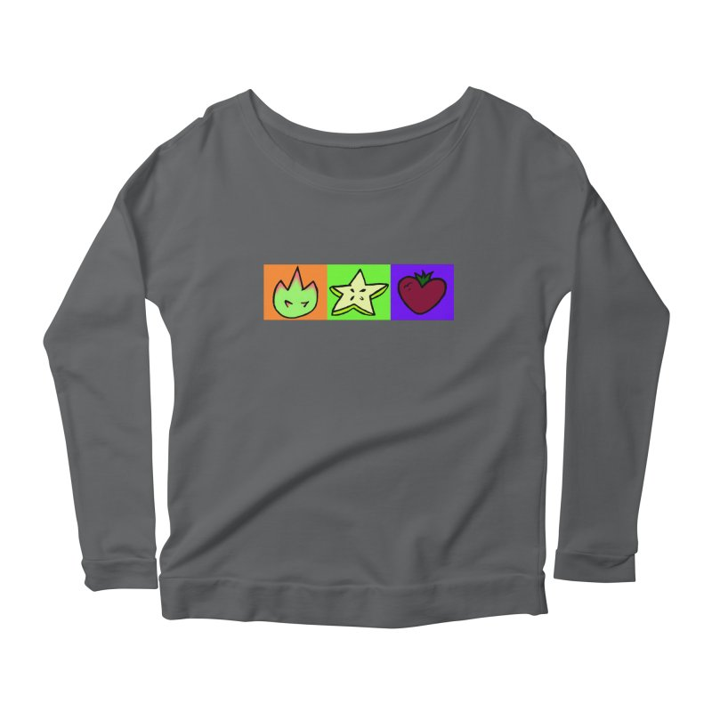 Individual Froot Logos Full Color Women's Longsleeve T-Shirt by Strange Froots Merch