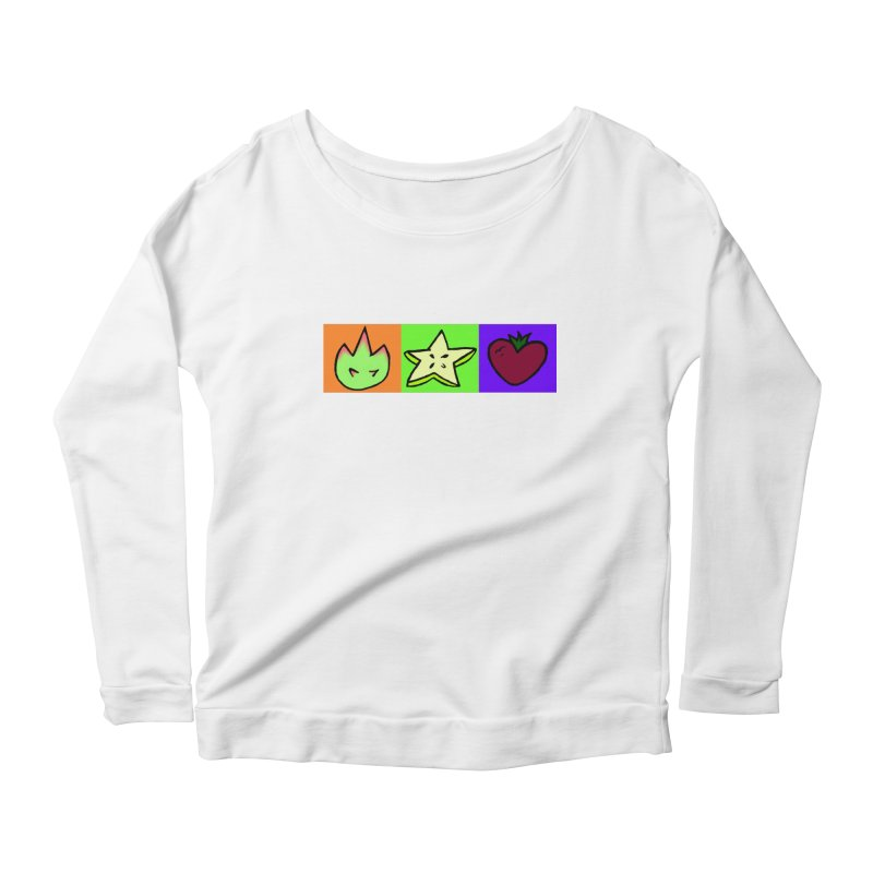 Individual Froot Logos Full Color Women's Scoop Neck Longsleeve T-Shirt by Strange Froots Merch