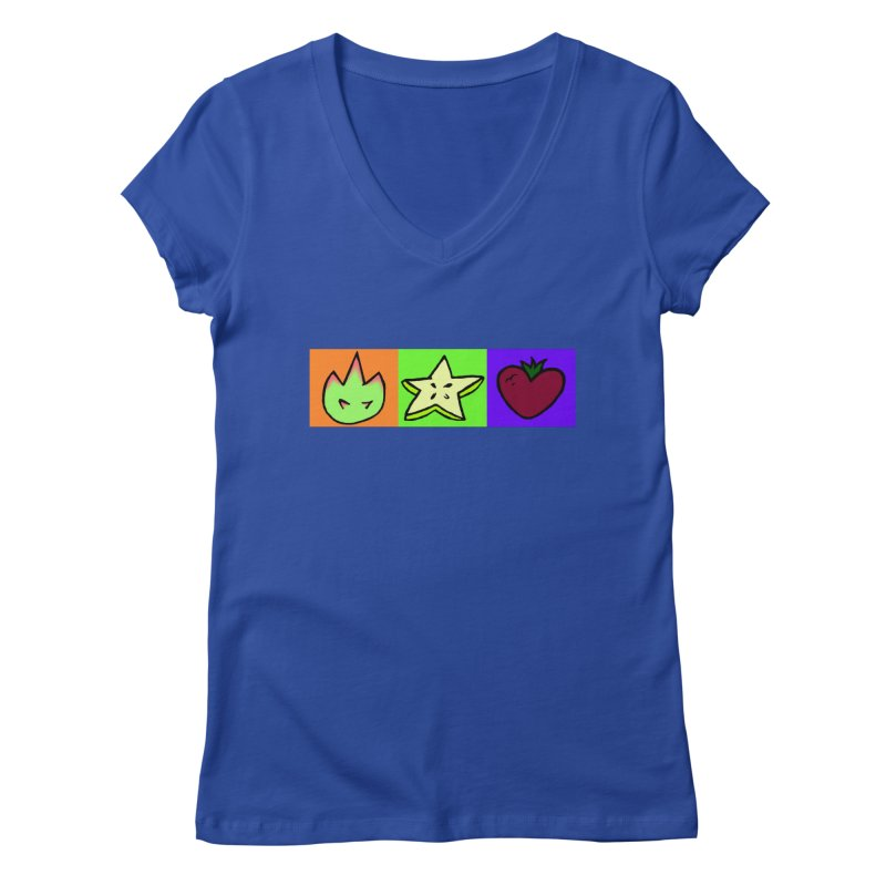 Individual Froot Logos Full Color Women's Regular V-Neck by Strange Froots Merch