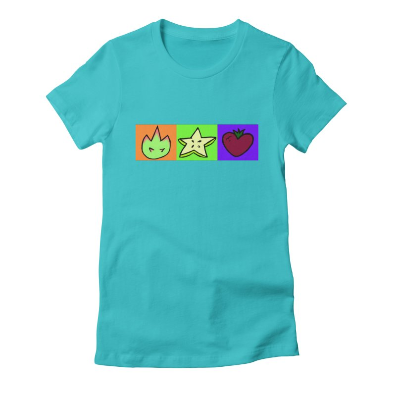 Individual Froot Logos Full Color Women's Fitted T-Shirt by Strange Froots Merch