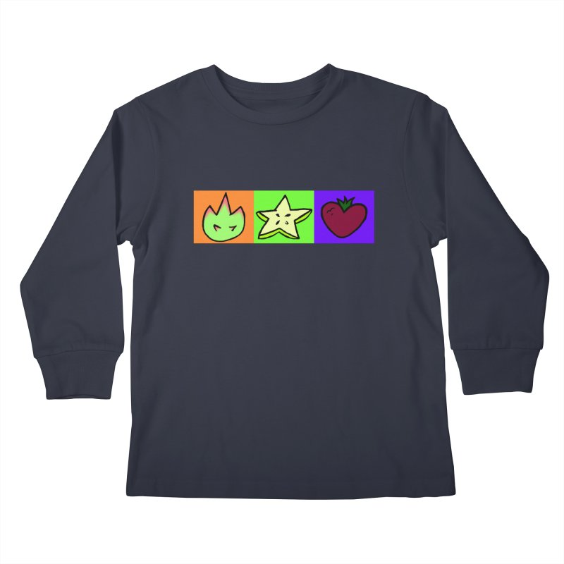 Individual Froot Logos Full Color Kids Longsleeve T-Shirt by Strange Froots Merch