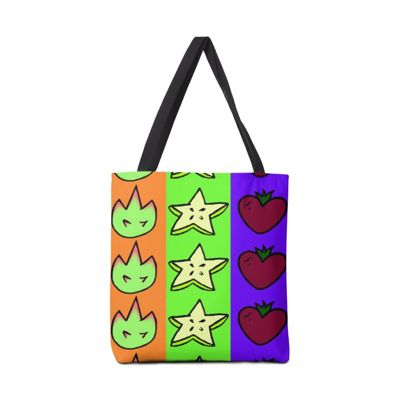 Individual Froot Logos Full Color Accessories Tote Bag Bag by Strange Froots Merch