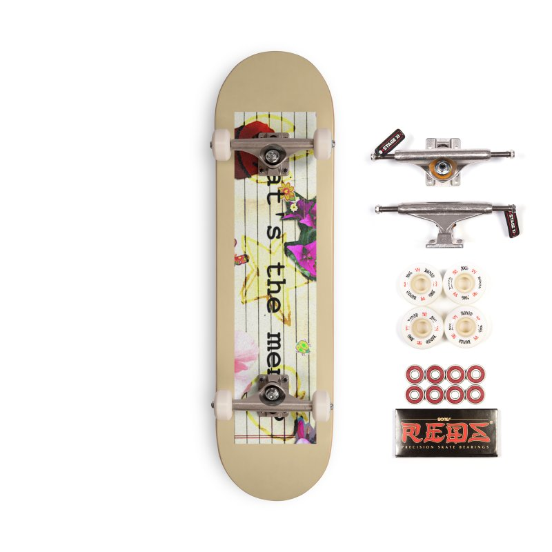 BTFFT Floral Print with Individual Logos - What's the Memo Accessories Complete - Pro Skateboard by Strange Froots Merch