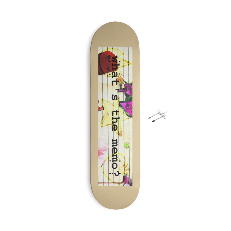 BTFFT Floral Print with Individual Logos - What's the Memo Accessories With Hanging Hardware Skateboard by Strange Froots Merch