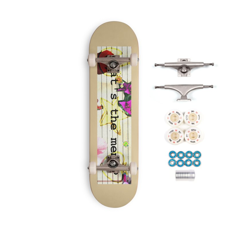 BTFFT Floral Print with Individual Logos - What's the Memo Accessories Complete - Premium Skateboard by Strange Froots Merch