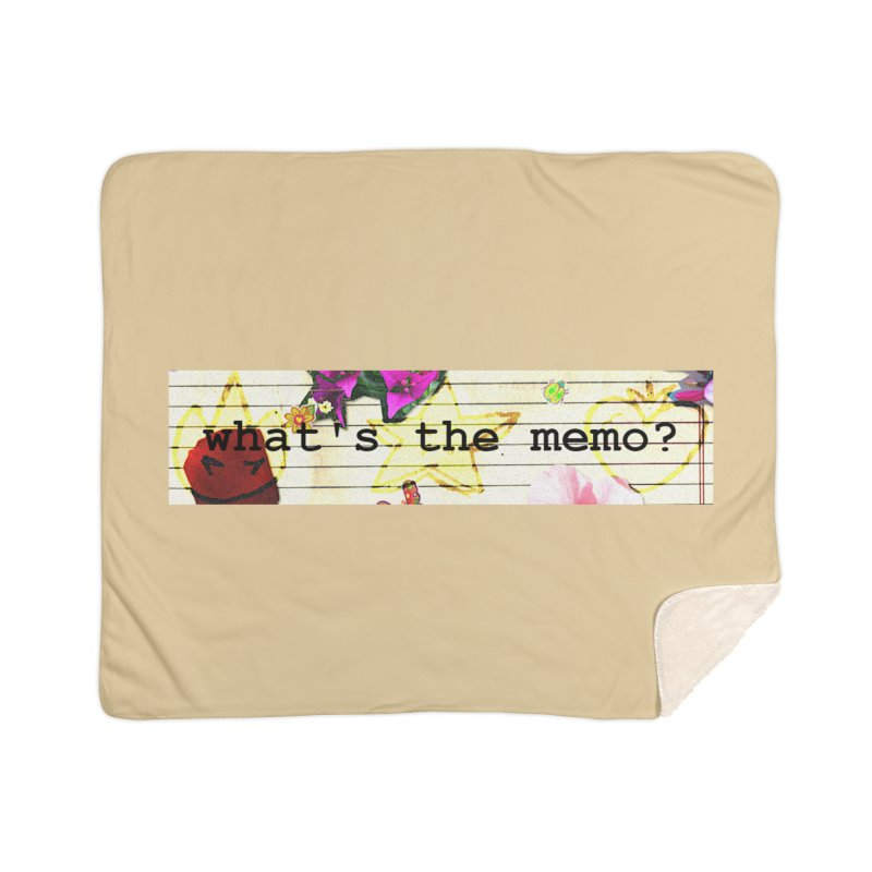 BTFFT Floral Print with Individual Logos - What's the Memo Home Blanket by Strange Froots Merch