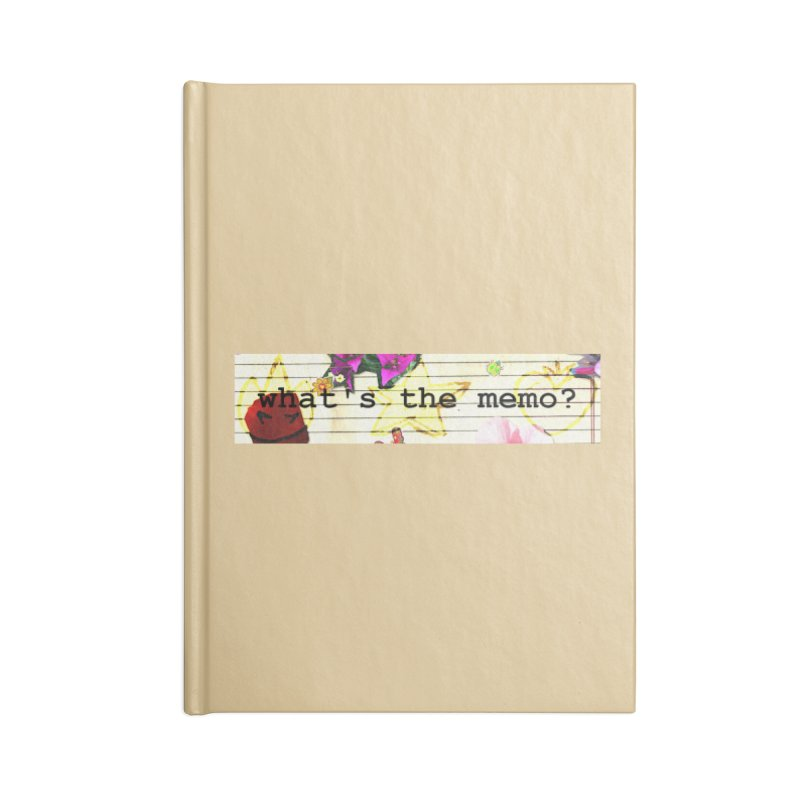 BTFFT Floral Print with Individual Logos - What's the Memo Accessories Notebook by Strange Froots Merch