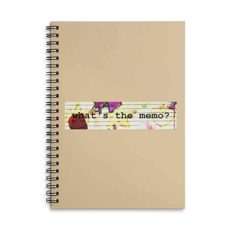 BTFFT Floral Print with Individual Logos - What's the Memo Accessories Lined Spiral Notebook by Strange Froots Merch