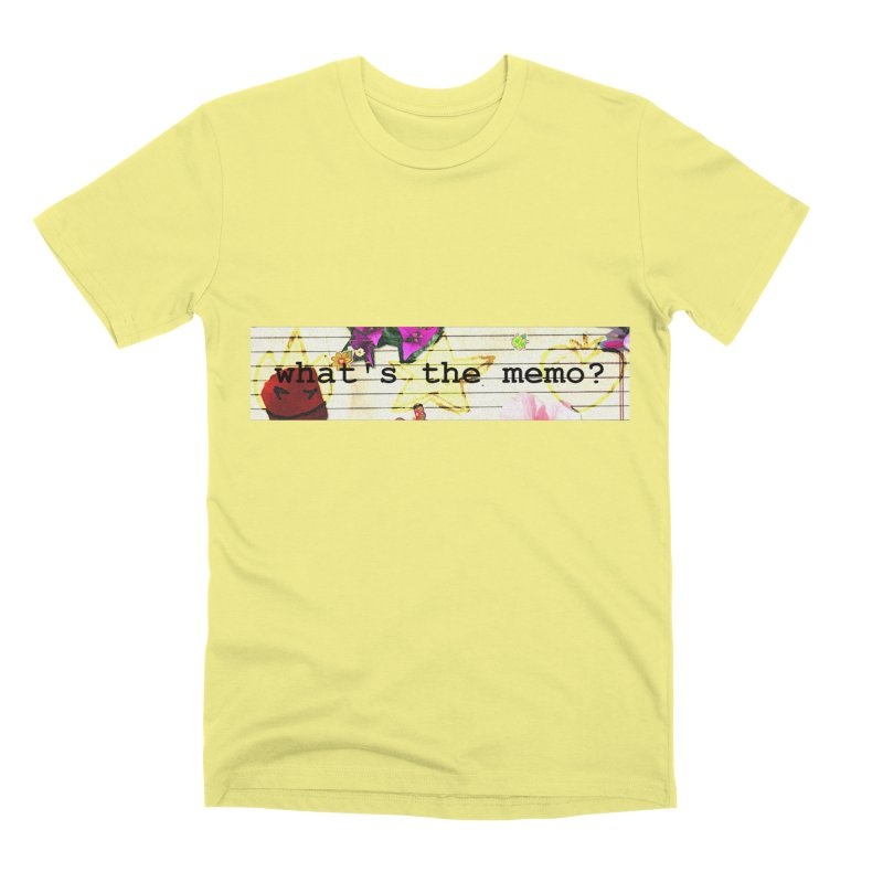 BTFFT Floral Print with Individual Logos - What's the Memo Men's Premium T-Shirt by Strange Froots Merch