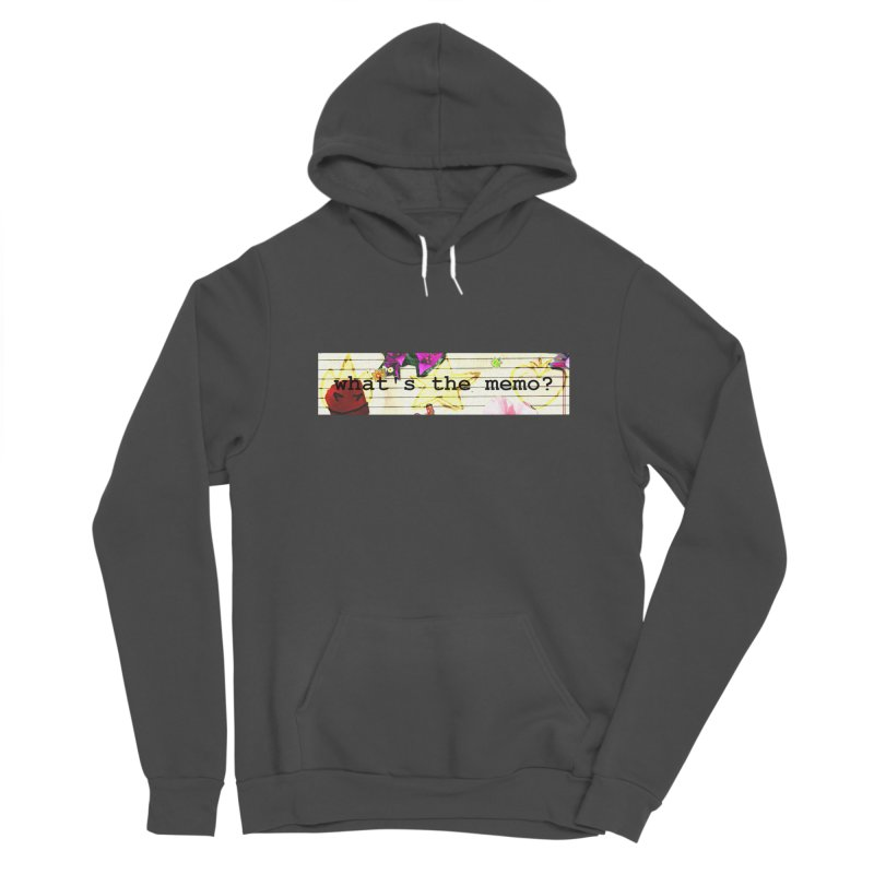 BTFFT Floral Print with Individual Logos - What's the Memo Men's Sponge Fleece Pullover Hoody by Strange Froots Merch
