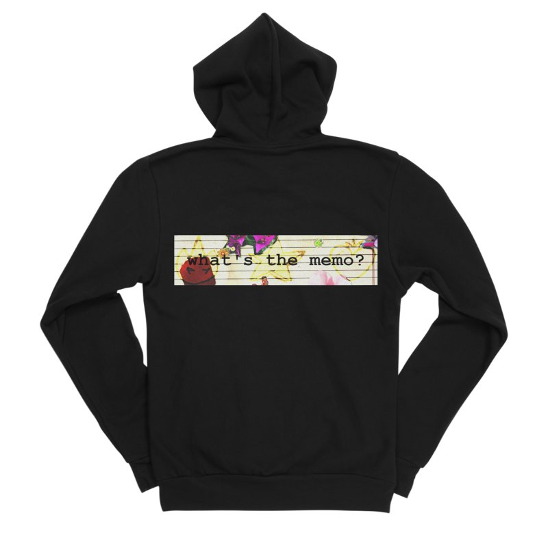 BTFFT Floral Print with Individual Logos - What's the Memo Men's Sponge Fleece Zip-Up Hoody by Strange Froots Merch