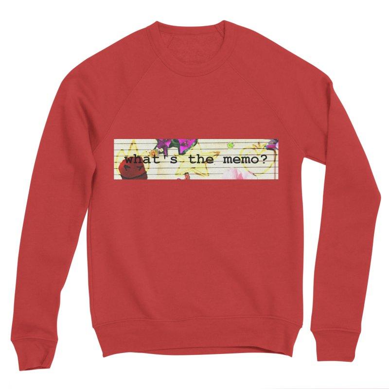 BTFFT Floral Print with Individual Logos - What's the Memo Women's Sponge Fleece Sweatshirt by Strange Froots Merch