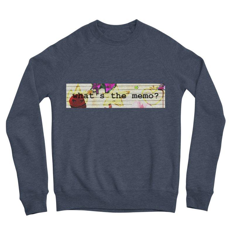BTFFT Floral Print with Individual Logos - What's the Memo Men's Sponge Fleece Sweatshirt by Strange Froots Merch