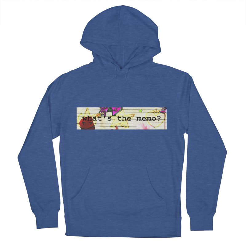BTFFT Floral Print with Individual Logos - What's the Memo Women's French Terry Pullover Hoody by Strange Froots Merch