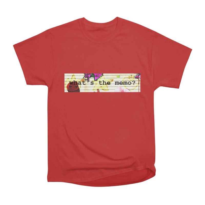 BTFFT Floral Print with Individual Logos - What's the Memo Men's Heavyweight T-Shirt by Strange Froots Merch