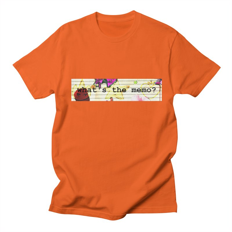 BTFFT Floral Print with Individual Logos - What's the Memo Men's Regular T-Shirt by Strange Froots Merch
