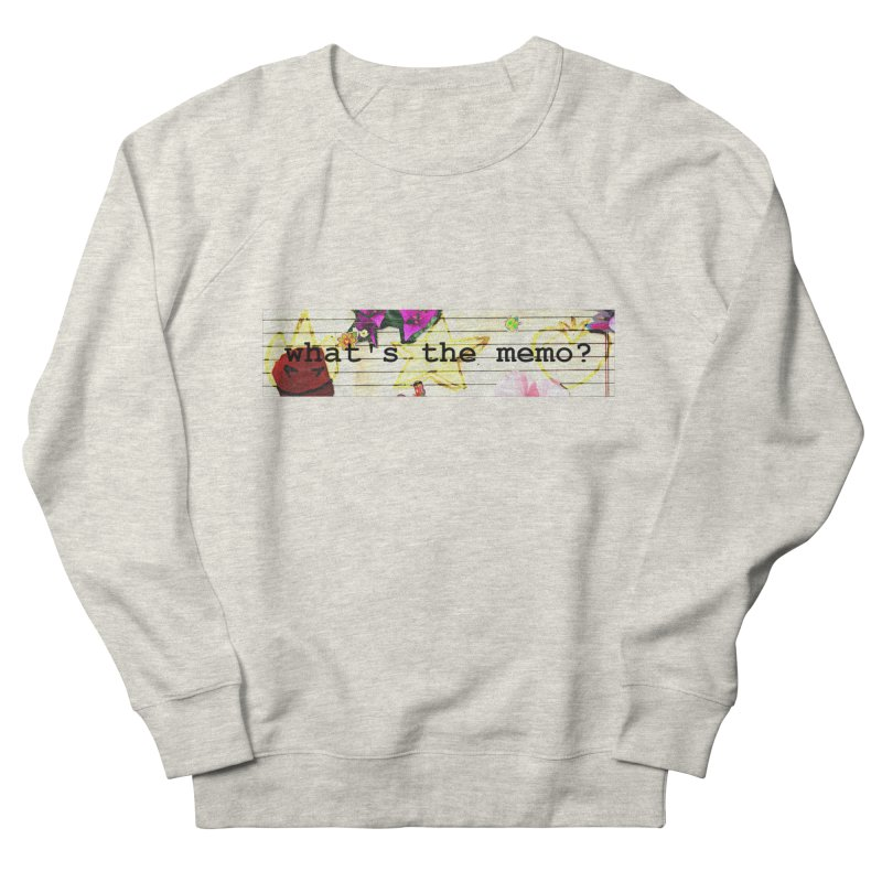 BTFFT Floral Print with Individual Logos - What's the Memo Women's French Terry Sweatshirt by Strange Froots Merch