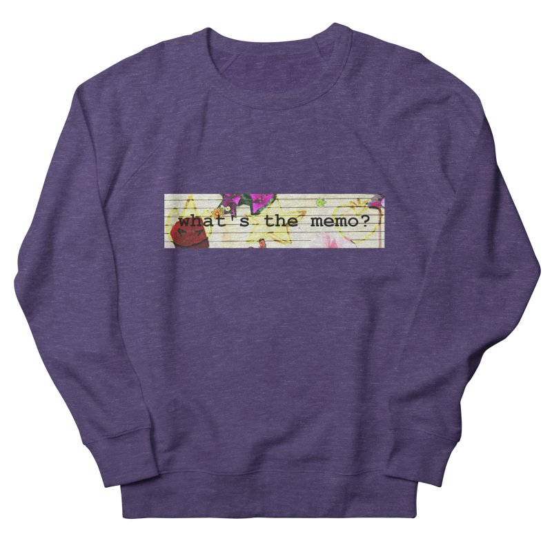 BTFFT Floral Print with Individual Logos - What's the Memo Men's French Terry Sweatshirt by Strange Froots Merch