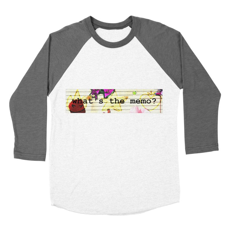 BTFFT Floral Print with Individual Logos - What's the Memo Women's Baseball Triblend Longsleeve T-Shirt by Strange Froots Merch