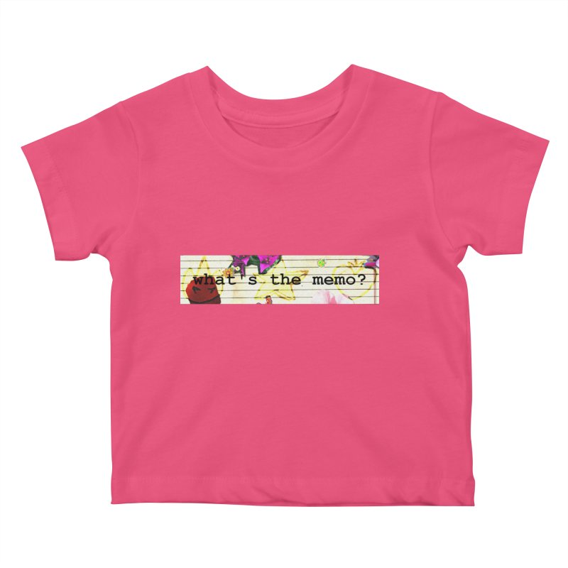 BTFFT Floral Print with Individual Logos - What's the Memo Kids Baby T-Shirt by Strange Froots Merch