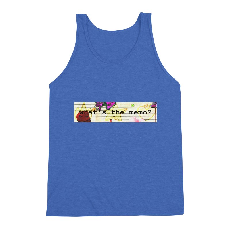 BTFFT Floral Print with Individual Logos - What's the Memo Men's Triblend Tank by Strange Froots Merch