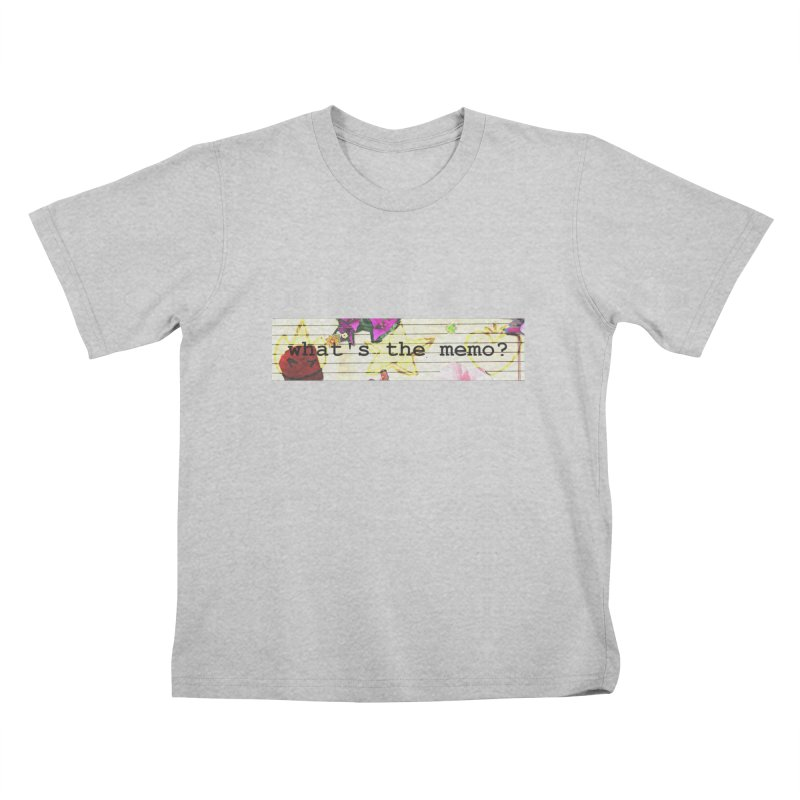 BTFFT Floral Print with Individual Logos - What's the Memo Kids T-Shirt by Strange Froots Merch