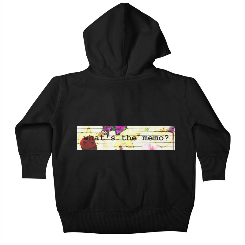 BTFFT Floral Print with Individual Logos - What's the Memo Kids Baby Zip-Up Hoody by Strange Froots Merch