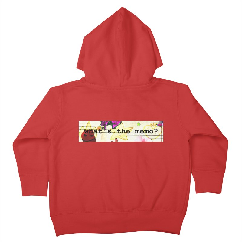 BTFFT Floral Print with Individual Logos - What's the Memo Kids Toddler Zip-Up Hoody by Strange Froots Merch