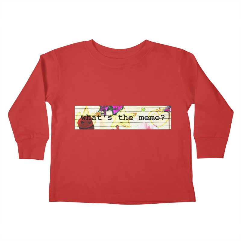BTFFT Floral Print with Individual Logos - What's the Memo Kids Toddler Longsleeve T-Shirt by Strange Froots Merch