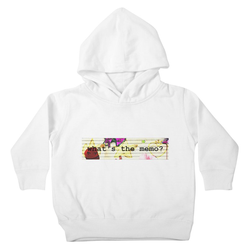 BTFFT Floral Print with Individual Logos - What's the Memo Kids Toddler Pullover Hoody by Strange Froots Merch