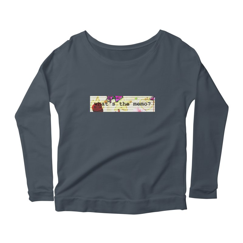 BTFFT Floral Print with Individual Logos - What's the Memo Women's Scoop Neck Longsleeve T-Shirt by Strange Froots Merch
