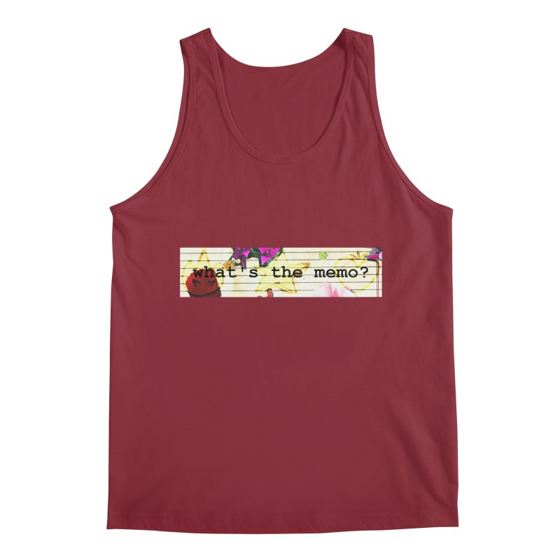 BTFFT Floral Print with Individual Logos - What's the Memo Men's Regular Tank by Strange Froots Merch