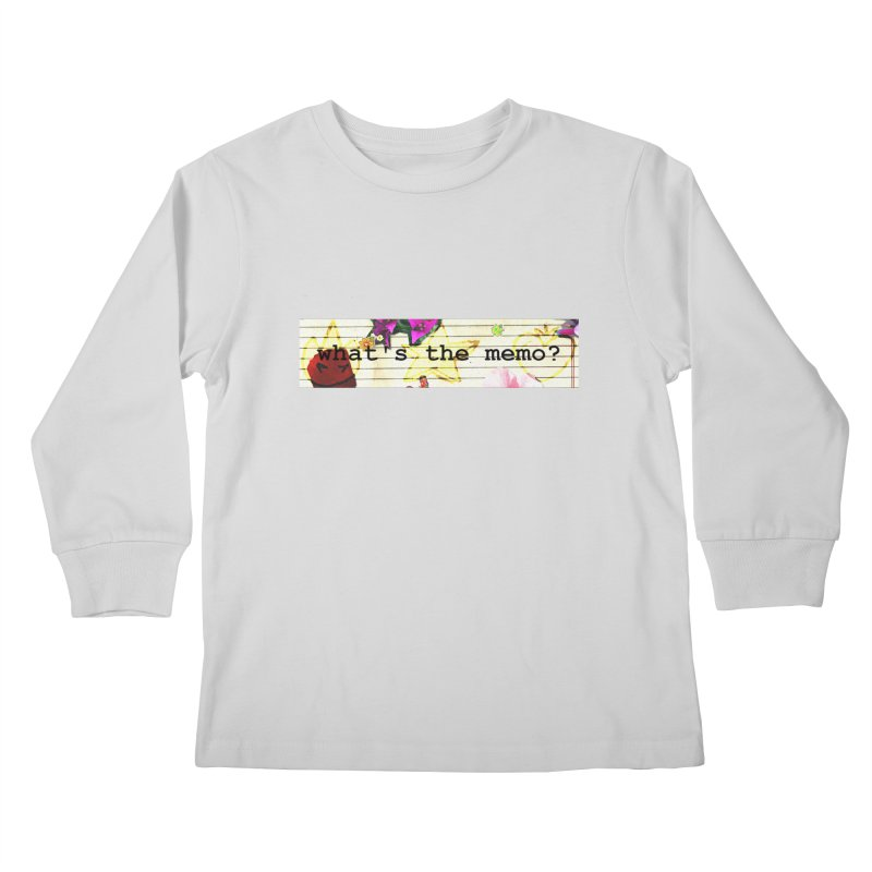 BTFFT Floral Print with Individual Logos - What's the Memo Kids Longsleeve T-Shirt by Strange Froots Merch