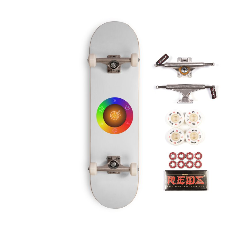 Froot the Rainbow Accessories Complete - Pro Skateboard by Strange Froots Merch