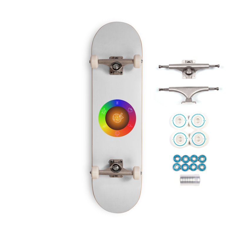 Froot the Rainbow Accessories Complete - Basic Skateboard by Strange Froots Merch