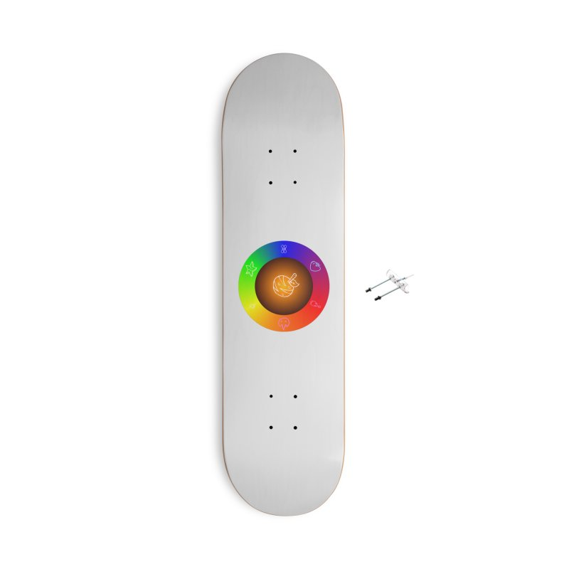 Froot the Rainbow Accessories With Hanging Hardware Skateboard by Strange Froots Merch