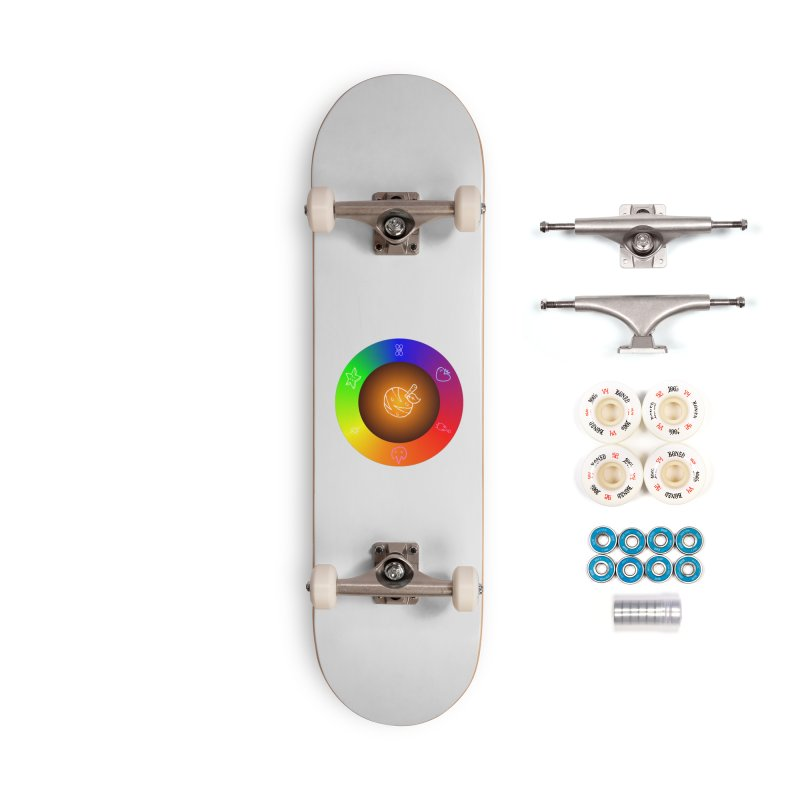 Froot the Rainbow Accessories Complete - Premium Skateboard by Strange Froots Merch
