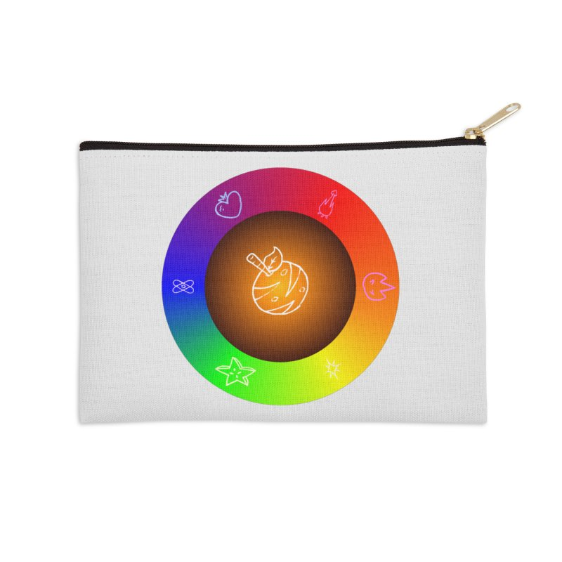 Froot the Rainbow Accessories Zip Pouch by Strange Froots Merch