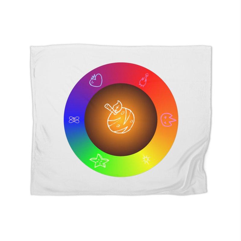 Froot the Rainbow Home Fleece Blanket Blanket by Strange Froots Merch