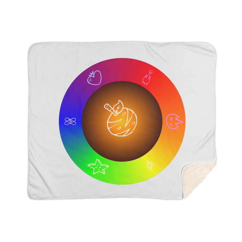 Froot the Rainbow Home Sherpa Blanket Blanket by Strange Froots Merch