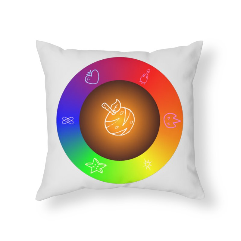 Froot the Rainbow Home Throw Pillow by Strange Froots Merch
