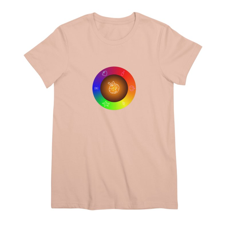 Froot the Rainbow Women's Premium T-Shirt by Strange Froots Merch
