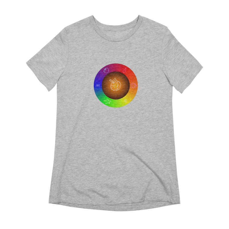 Froot the Rainbow Women's Extra Soft T-Shirt by Strange Froots Merch
