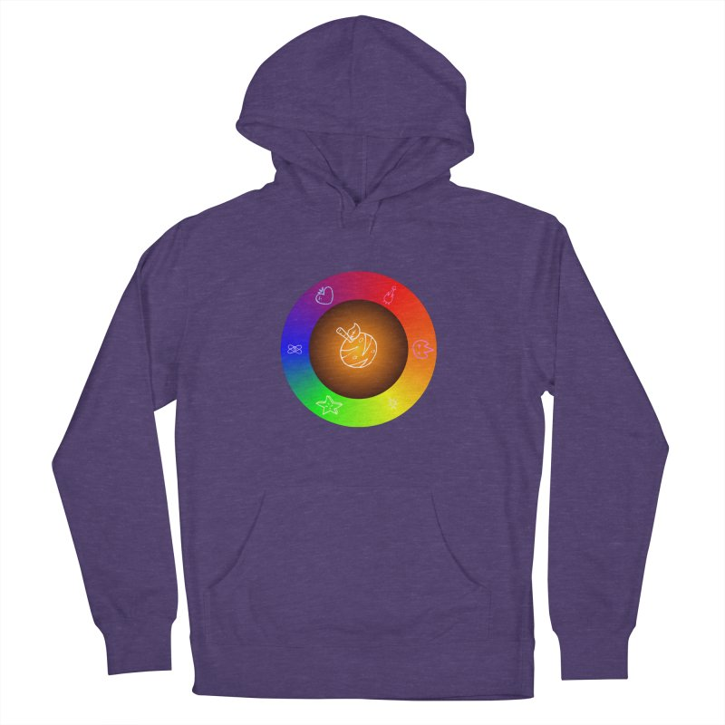 Froot the Rainbow Men's French Terry Pullover Hoody by Strange Froots Merch