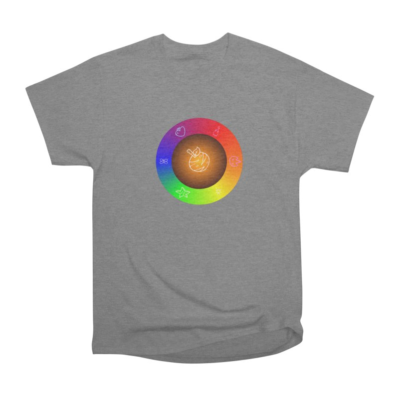 Froot the Rainbow Men's Heavyweight T-Shirt by Strange Froots Merch